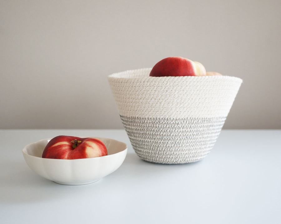 Cotton Cord Bowl - Grey