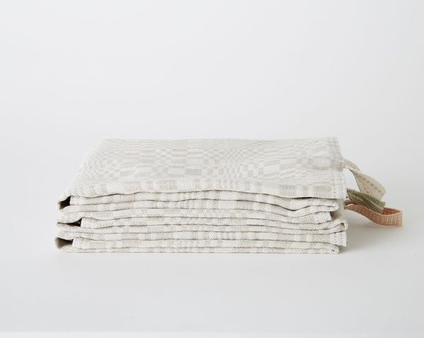 Tea Towel - Grey Check