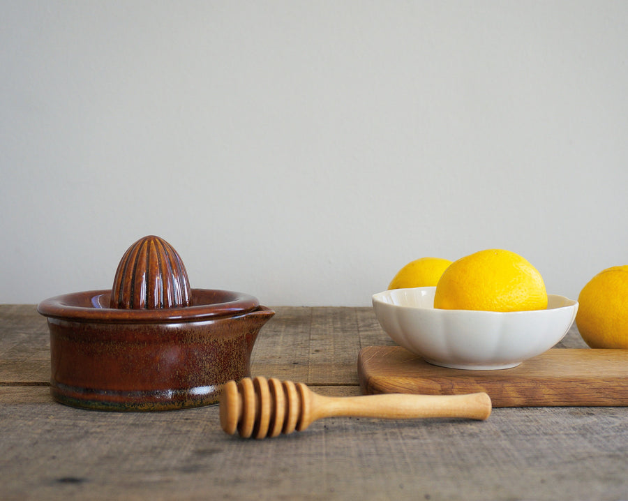 Vintage Citrus Squeezer - Mixed Brown