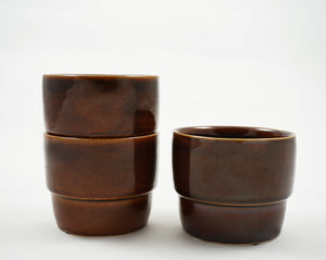 Vintage Stacking Cup - Brown