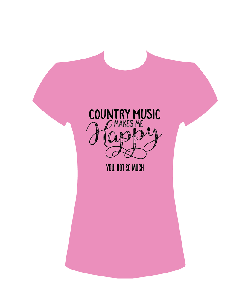 "Women's ""Country Music  Makes Me Happy"" T-Shirt"