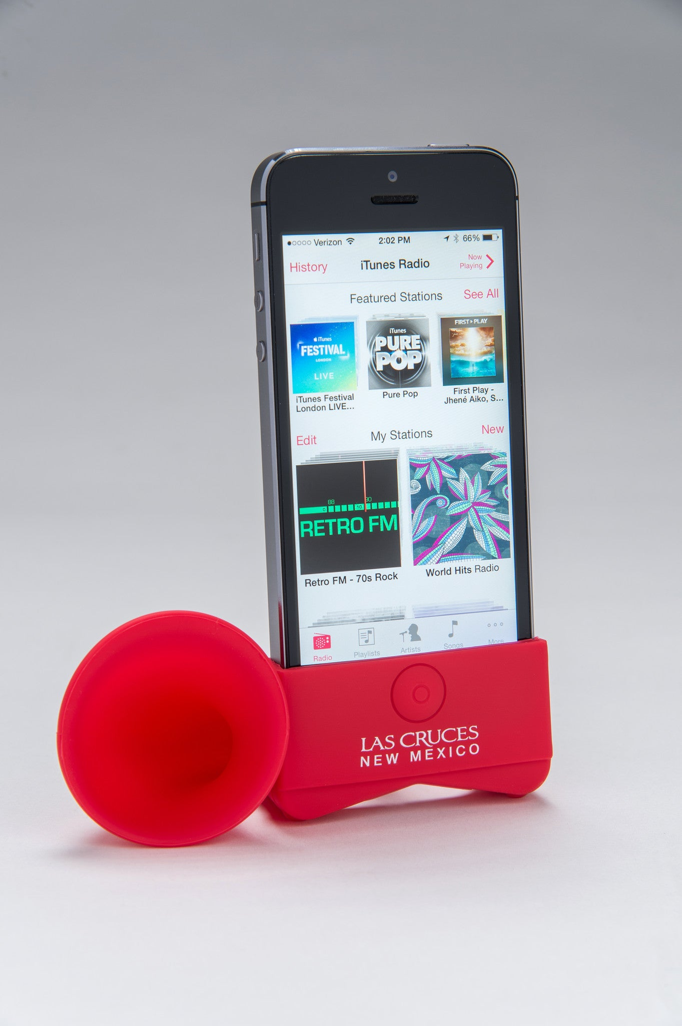 iPhone speaker stand