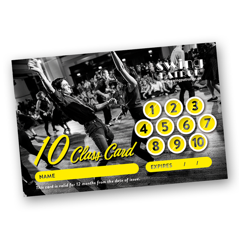 Swing Patrol London - Class Card (to collect)