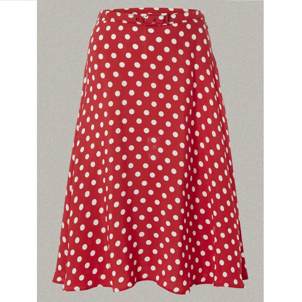 Seamstress of Bloomsbury - Circle Skirt (Red with White Spot)