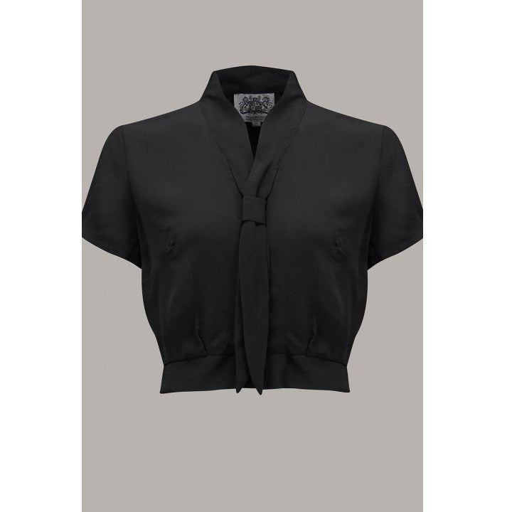 Seamstress of Bloomsbury - Bonnie Blouse (Black)