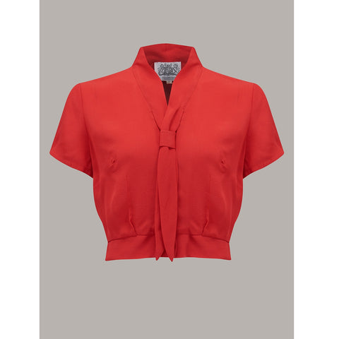Seamstress of Bloomsbury - Bonnie Blouse (Red)