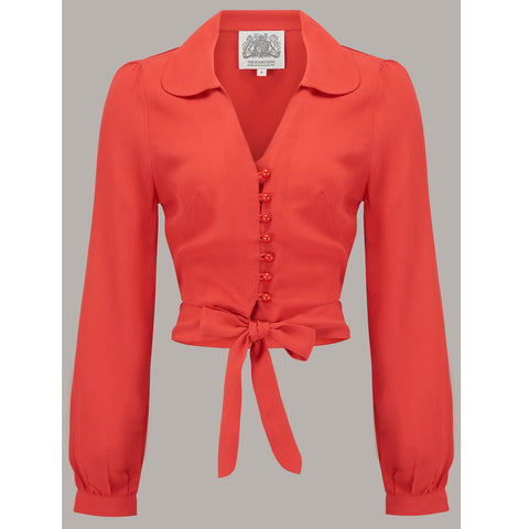 Seamstress of Bloomsbury - Clarice Blouse (40s Red)