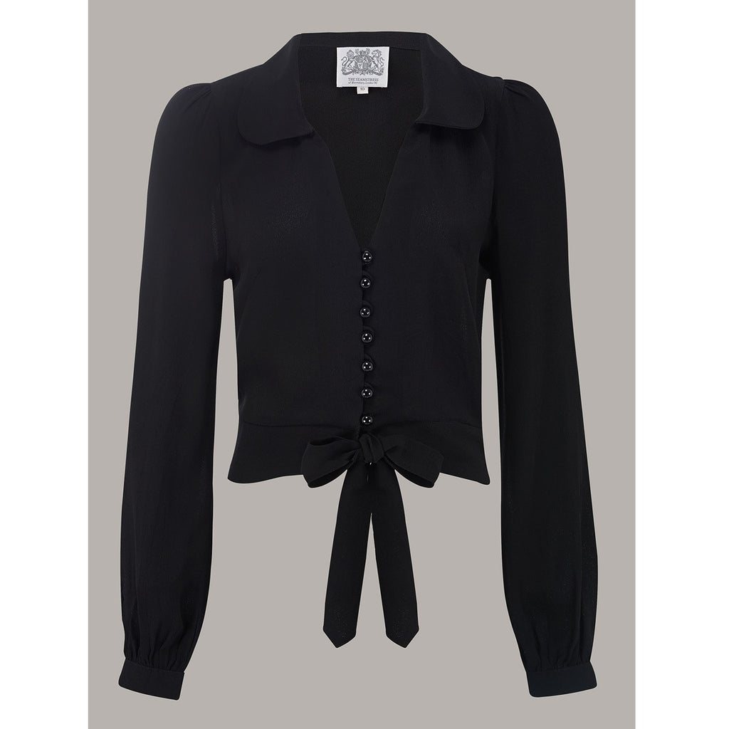 Seamstress of Bloomsbury - Clarice Blouse (Black)