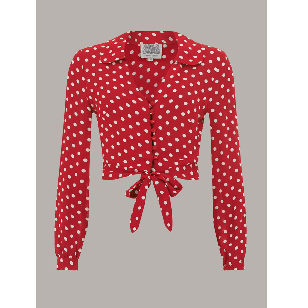 Seamstress of Bloomsbury - Clarice Blouse (Red and White Spot)
