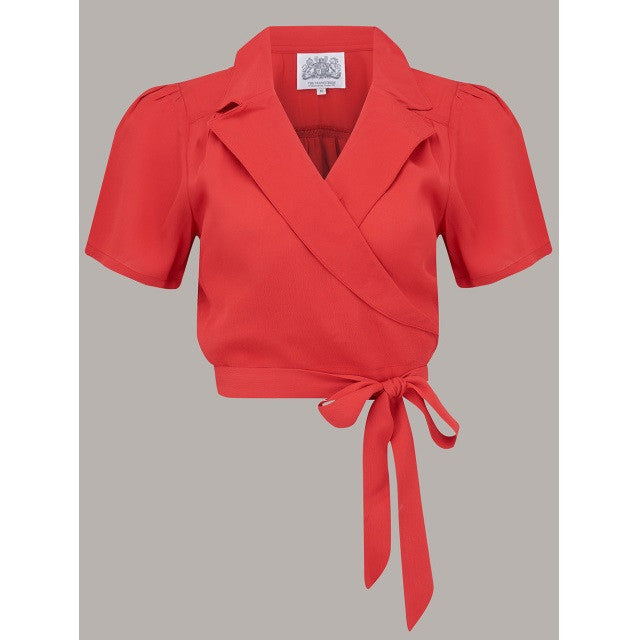 Seamstress of Bloomsbury - Greta Blouse (Red)