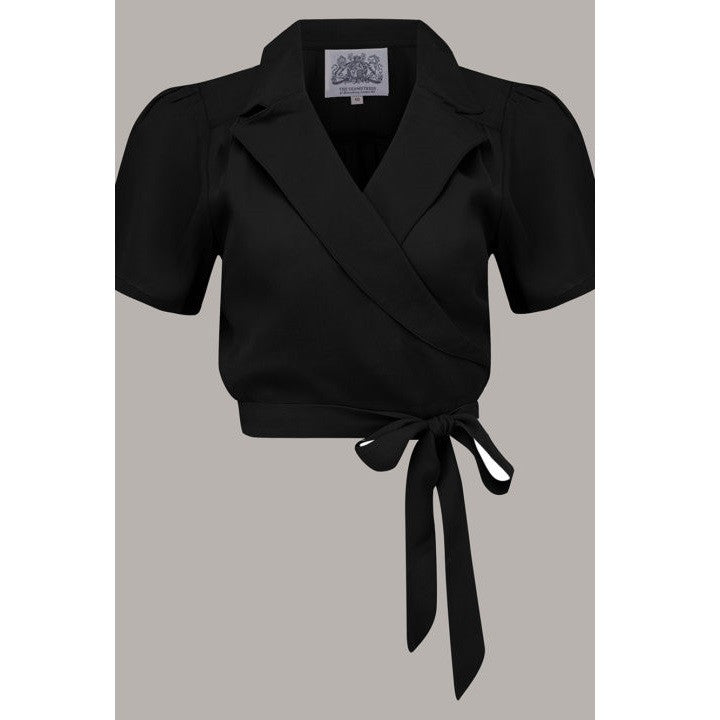 Seamstress of Bloomsbury - Greta Blouse (Black)
