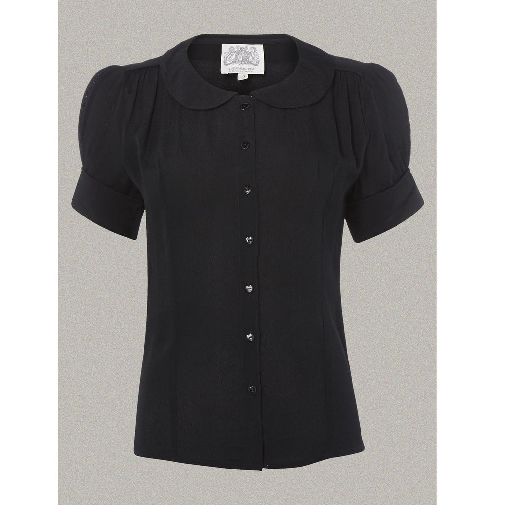 Seamstress of Bloomsbury - Jive Blouse (Black)