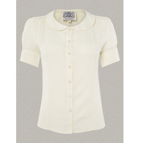 Seamstress of Bloomsbury - Jive Blouse (Cream)