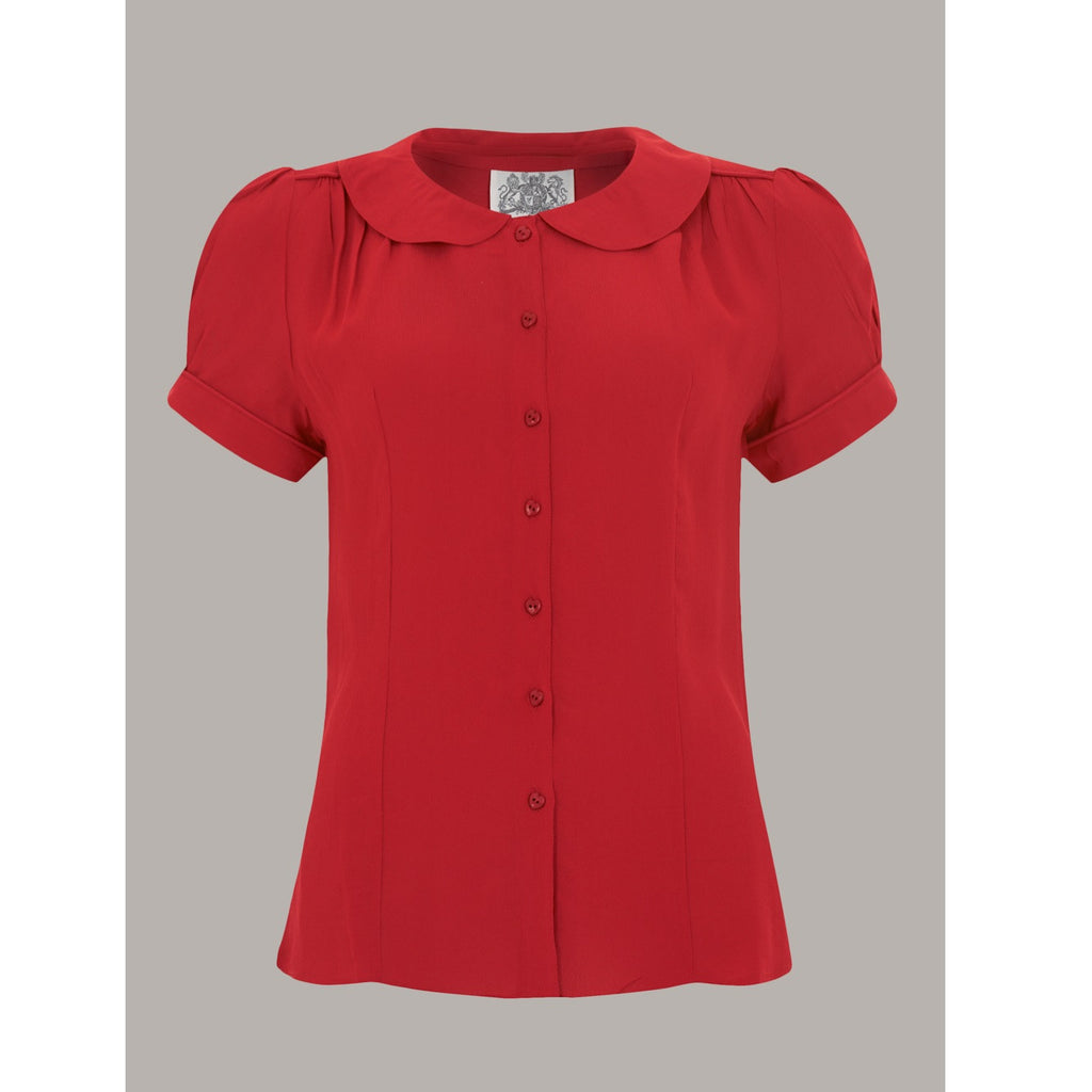 Seamstress of Bloomsbury - Jive Blouse (Red)