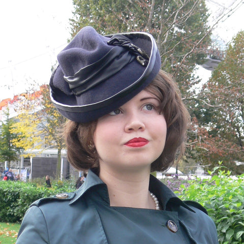 Mini Trilby hat - 1940s style
