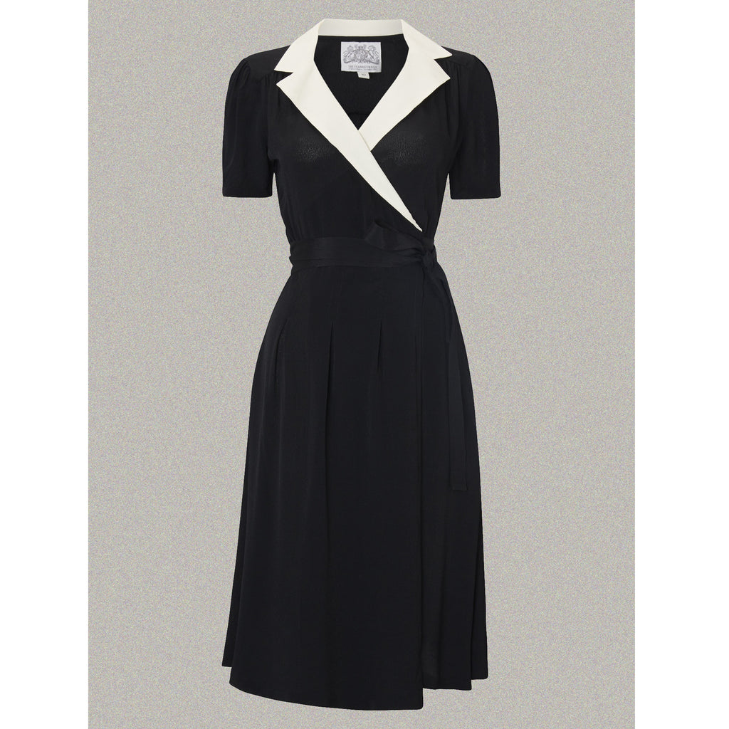 Seamstress of Bloomsbury - Peggy Dress (Black/Ivory contrast)