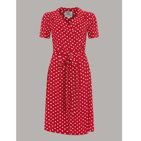 Seamstress of Bloomsbury - Peggy Dress (Red and white spot)