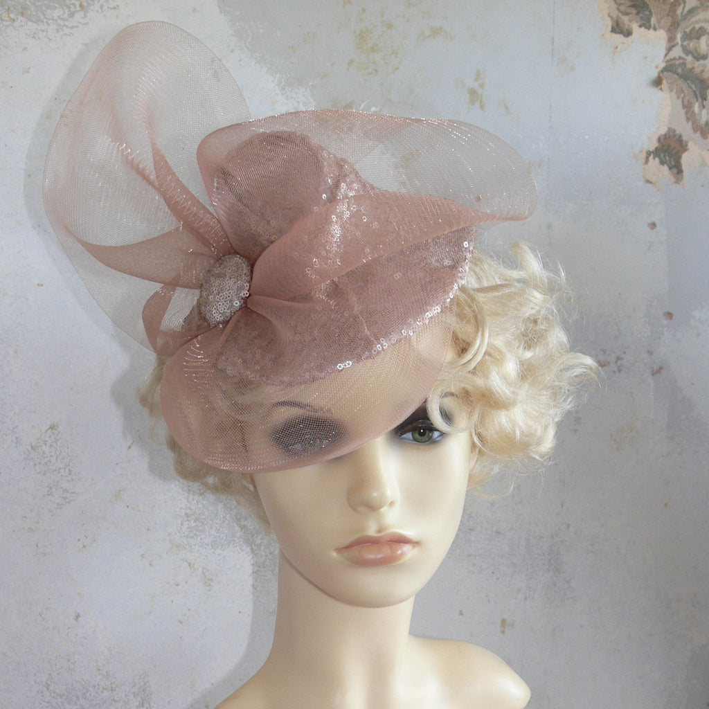 Pixie Hat - Oyster sequinned