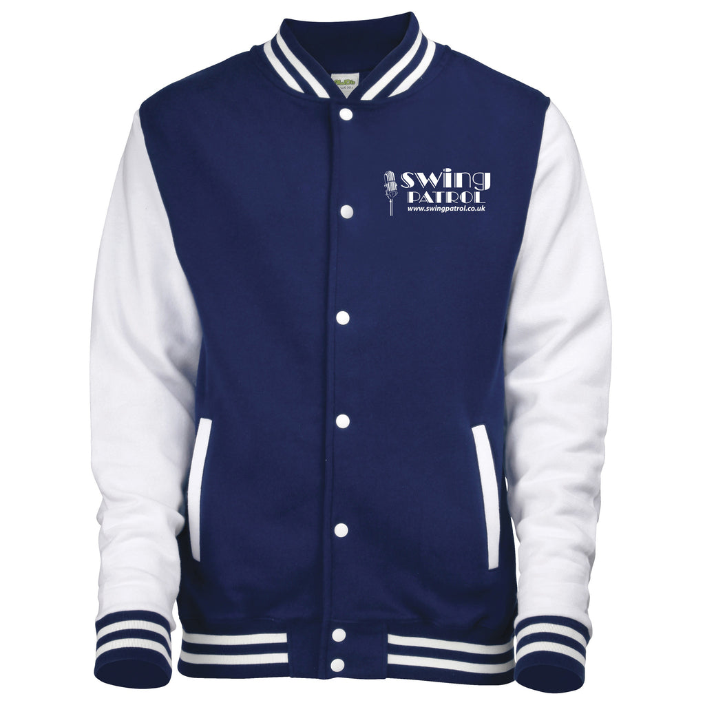 Swing Patrol Varsity Jacket - Blue & White