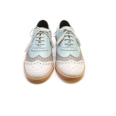 Tint London - Ladies White Brogues