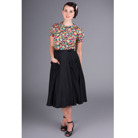 Seamstress of Bloomsbury - Thelma Skirt (Black)