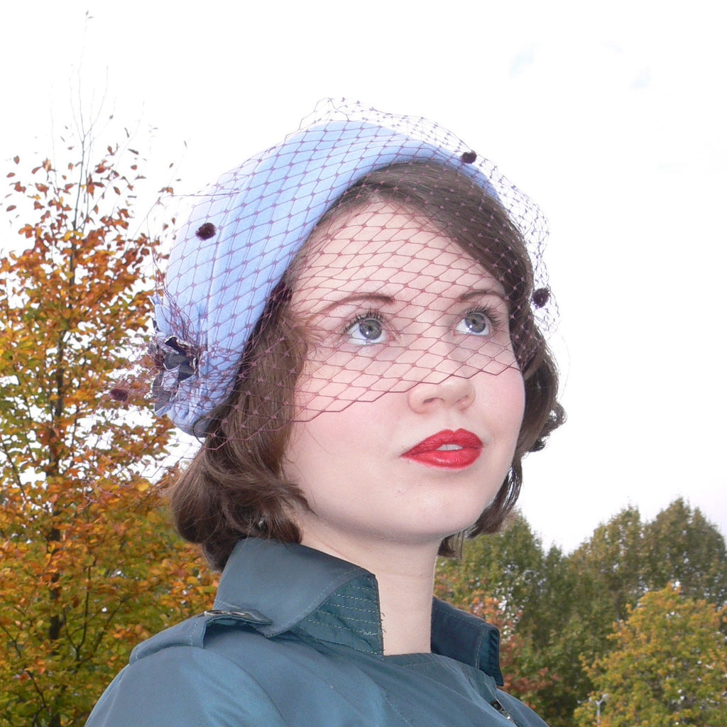 Felt Folded Hat - Pale Blue