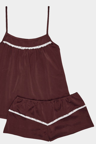 luxury cami top and shorts camisole set