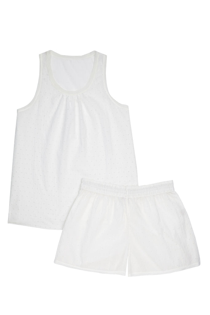 luxury pyjama top and shorts set