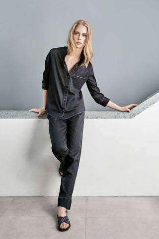 luxury lounge pyjama shirt and trousers set for women