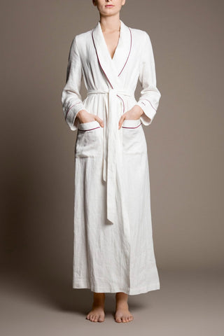 luxury snow white womens robe gown