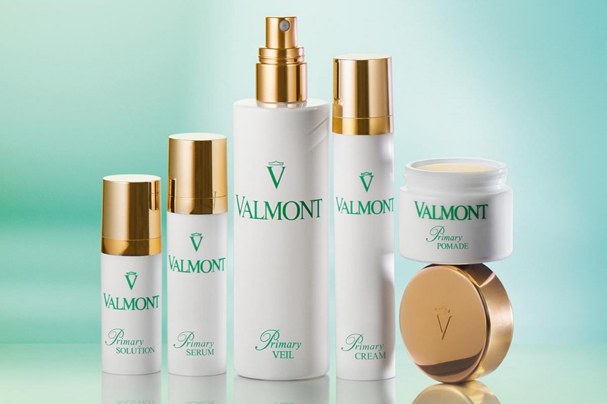 Valmont Primary skin care line for sensitive skin Primary Veil Primary Pomade Primary Serum Primary Cream Primary Solution soothing for sensitive skin