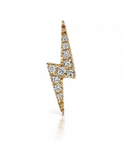 11mm DIAMOND LIGHTNING BOLT THREADED STUD in Yellow Gold