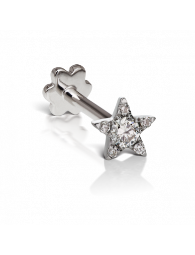 white gold star stud with diamond maria tash 18k