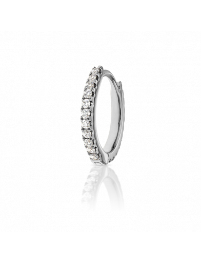 8mm DIAMOND ETERNITY RING  in White Gold