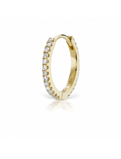 9.5mm DIAMOND ETERNITY RING  in Yellow Gold