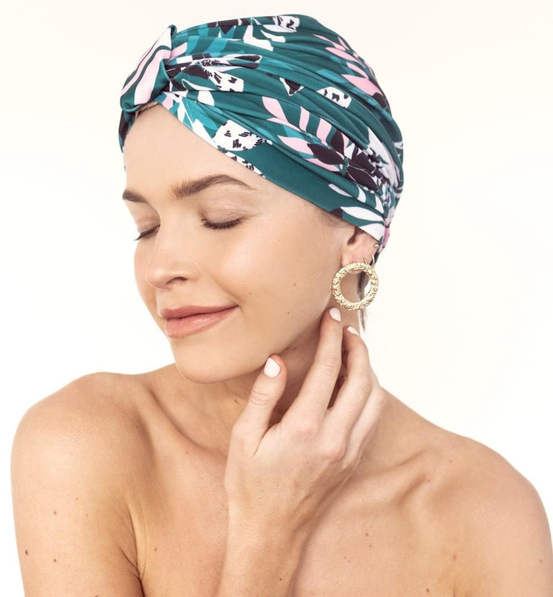 AMELIE SHOWER CAP - ALPINE FLOWERS
