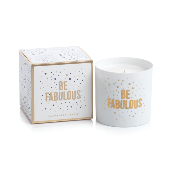 PORCELAIN SCENTED CANDLE JAR - BE FABULOUS
