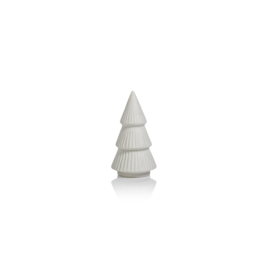 CERAMIC HOLIDAY TREE - MATT WHITE