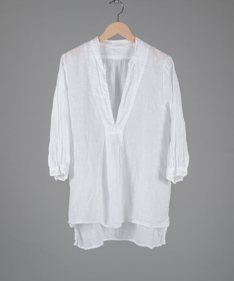 DAKOTA LINEN TUNIC in WHITE