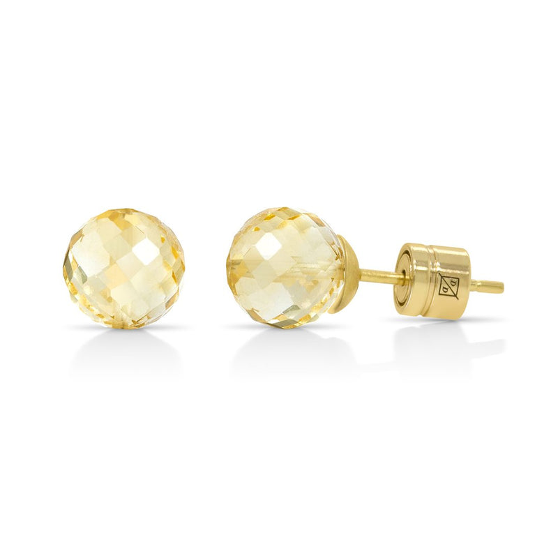 MANHATTAN GEMSTONE STUDS GOLD WITH CITRINE