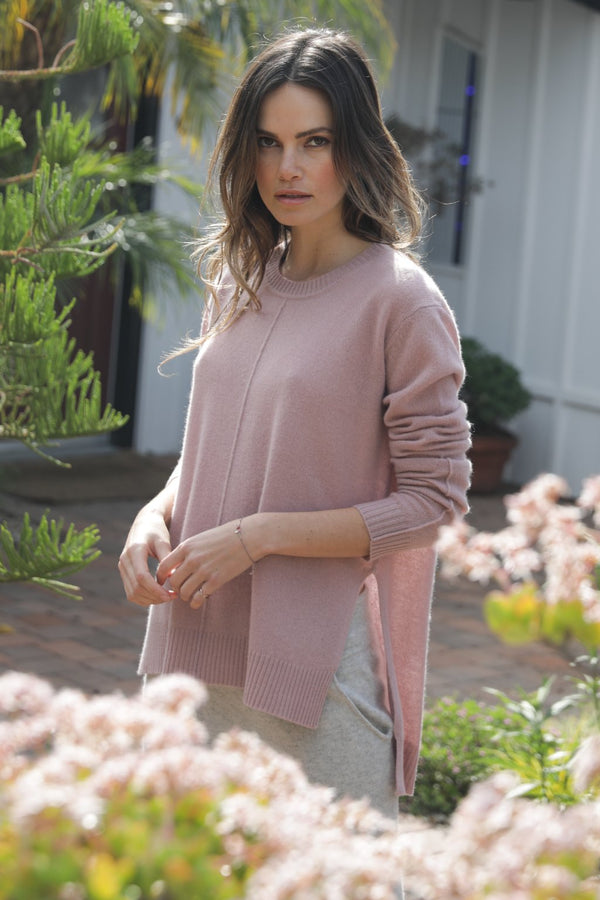 ELECTRA CASHMERE SWEATER - BLUSH
