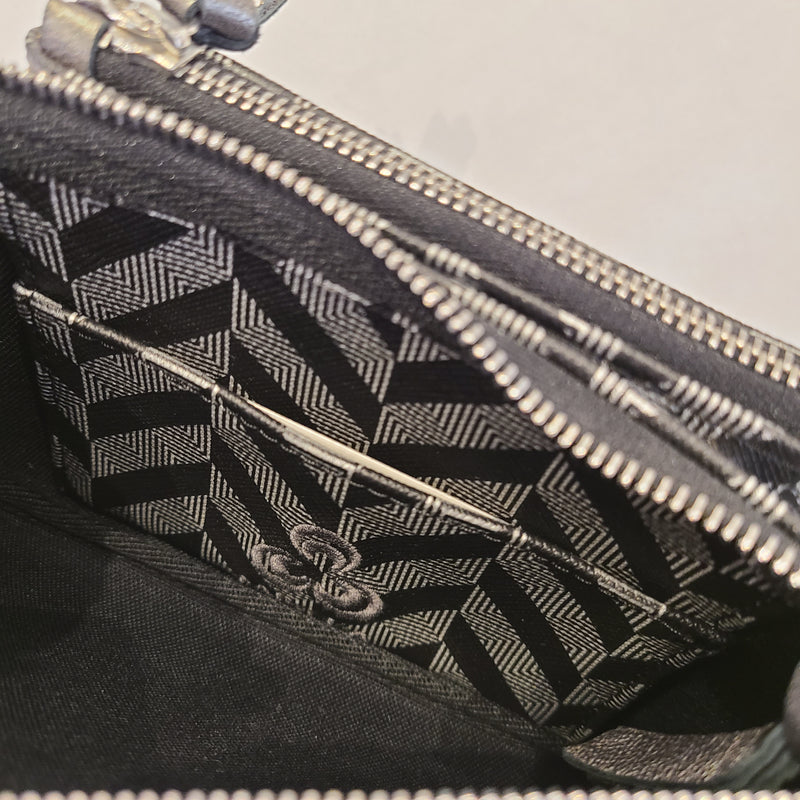 EVA WALLET BLACK & SILVER with ANTRACITE DETAILS
