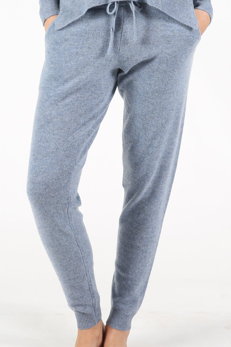 HAILEY CASHMERE JOGGERS - CHAMBRAY