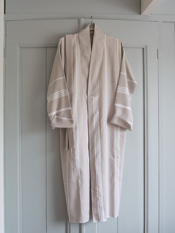 HAMMAM BATHROBE GREY-BEIGE