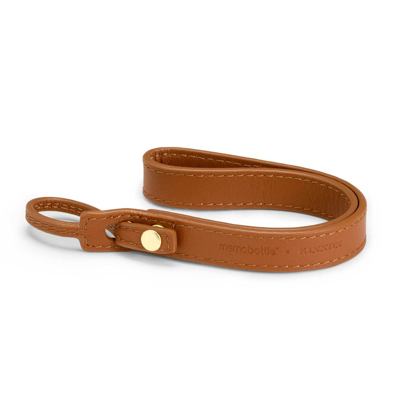 MEMOBOTTLE Leather Lanyard Tan