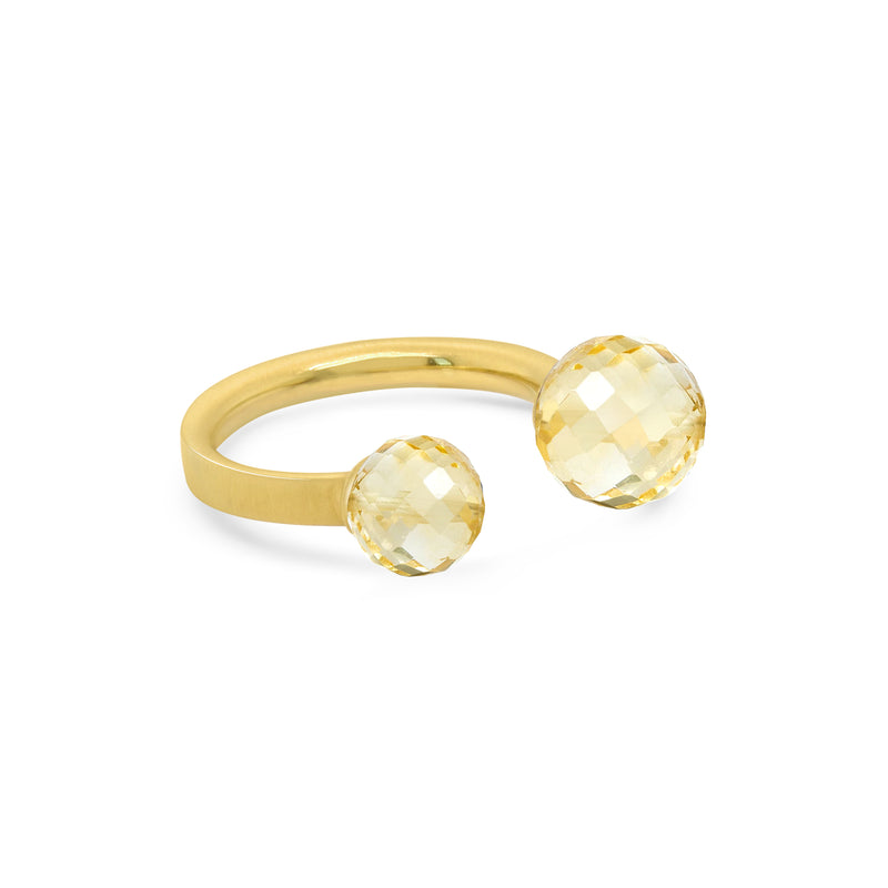 MANHATTAN GEMSTONE RING GOLD WITH CITRINE SIZE 7