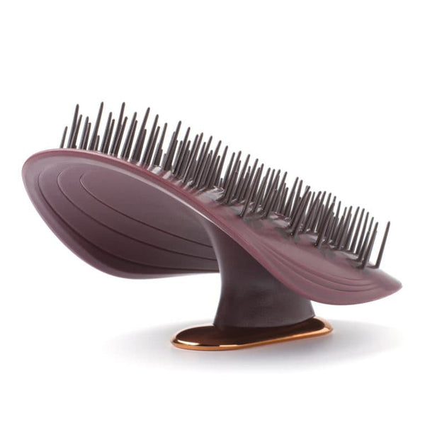 MANTA HAIR BRUSH - BURGUNDY