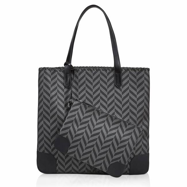 MILA TOTEBAG BLACK & ANTHRACITE