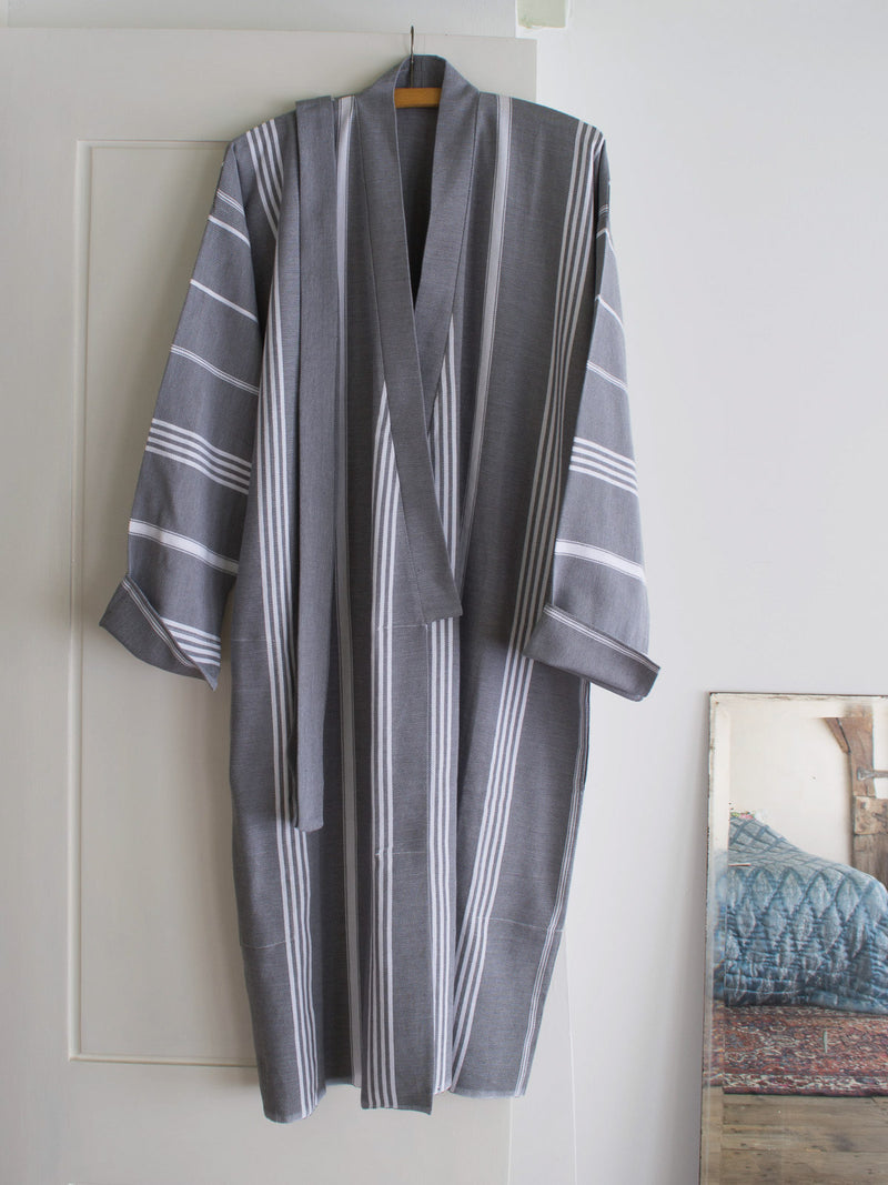 HAMMAM BATHROBE DARK GREY