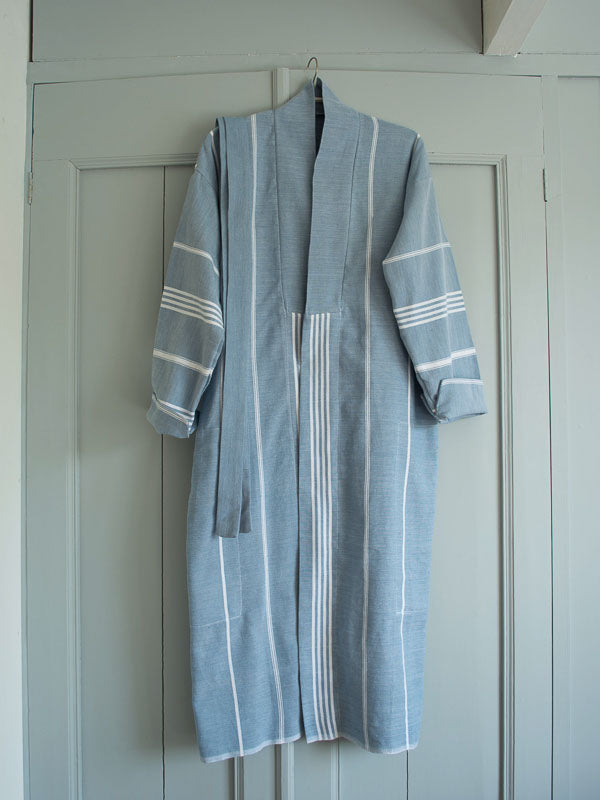 HAMMAM BATHROBE JEANS BLUE